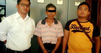 Amir Rullah (60) Warga Tapan Pessel Pelaku Pembunuhan Janda di Tapan Ditangkap Polres Pessel.JPG
