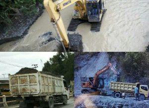 Alat Berat Keruk Sungai Di Siulak Kerinci Lokasi Galian C Diduga Ilegal