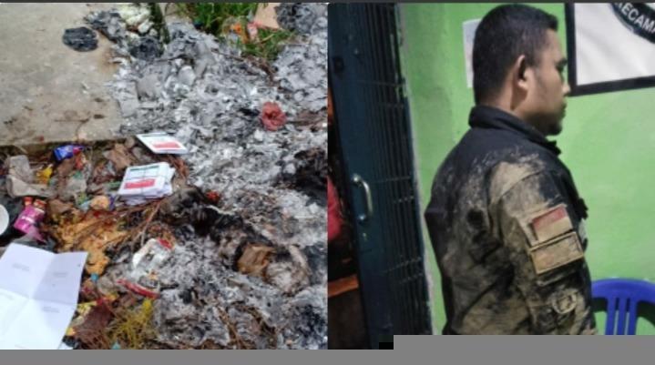 Panwascam di Kota Sungaipenuh Dikeroyok, Kotak Surat Suara Dibakar