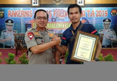 Indojatipos Media Raih Penghargaan Polda Jambi