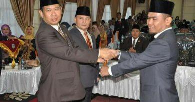 Satmarlendan DPT Pimpin Sidang Peripurna Pelantikan Ketua DPRD Fajran