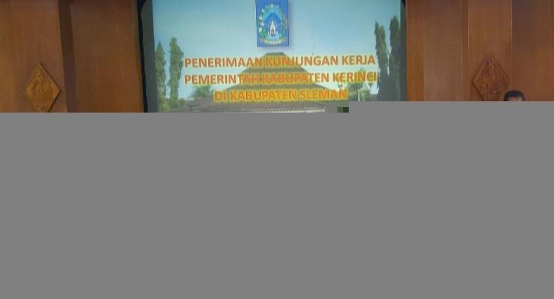 Humas & Wartawan Liputan Kerinci Studi Kemitraan ke Pemkab Sleman