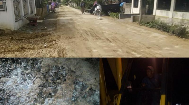 Aktivitas Truk & Alat Berat Dipungut Mudik Dikeluhkan Warga, Jalan Aspal Baru Dibangun Jadi Rusak