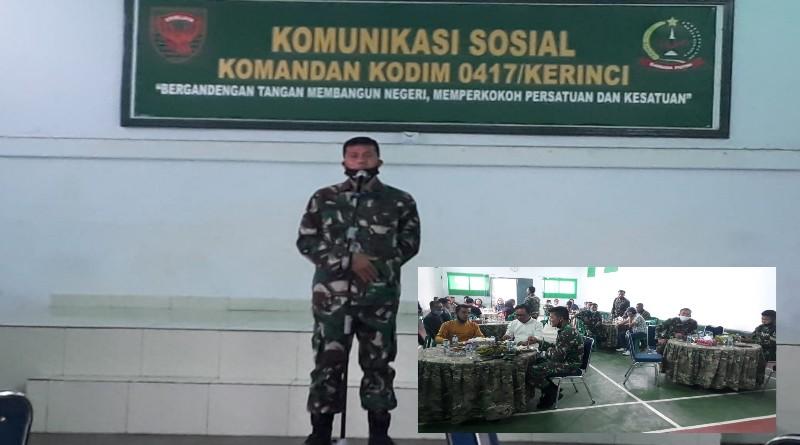 Kodim 0417 Kerinci Jalin Komunikasi Sosial Bersama Jurnalis