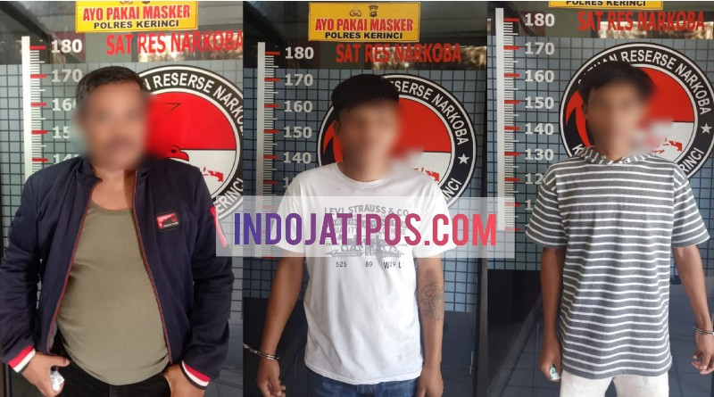 Edar Sabu, Oknum Perangkat Desa di Kerinci dan 2 Temanya Ditangkap Polisi